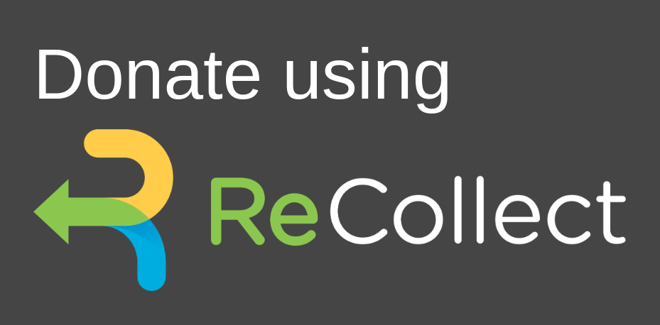 ReCollect recycling donation button